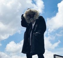 Unisex Faux Fur Street Style Plain Long Oversized Parkas