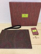 ETRO Paisley Street Style Leather Clutches