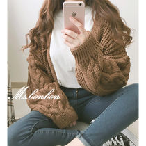 Casual Style Long Sleeves Medium Cardigans