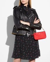 Coach Collaboration Bag in Bag Chain Plain Leather Party Style