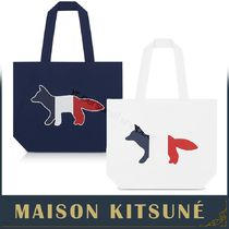 MAISON KITSUNE Casual Style Cambus Other Animal Patterns Totes