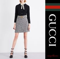 GUCCI Silk Long Sleeves Plain Elegant Style Shirts & Blouses