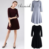 Chicwish Short A-line Cropped Plain With Jewels Elegant Style Dresses