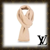 Louis Vuitton Monogram Cashmere Fringes Elegant Style