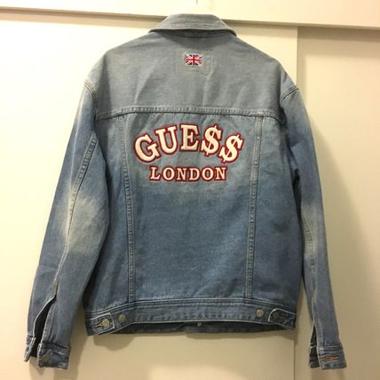 Short Unisex Denim Street Style Collaboration Jackets