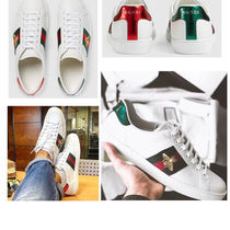 GUCCI Street Style Leather Sneakers