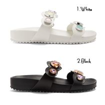 SOPHIA WEBSTER Open Toe Rubber Sole Casual Style Leather Sandals Sandals