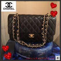 CHANEL MATELASSE Lambskin 2WAY Elegant Style Shoulder Bags