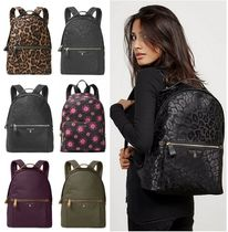 Michael Kors Leopard Patterns Casual Style Unisex Nylon Plain Backpacks