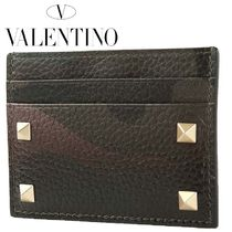 VALENTINO Camouflage Leather Card Holders
