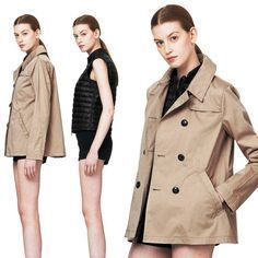 Short Plain Office Style Trench Coats