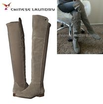 CHINESE LAUNDRY Casual Style Suede Plain Over-the-Knee Boots