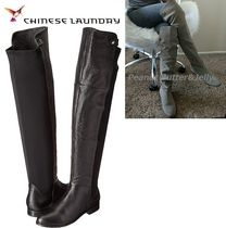 CHINESE LAUNDRY Casual Style Plain Leather Over-the-Knee Boots