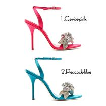 SOPHIA WEBSTER Flower Patterns Open Toe Pin Heels Party Style