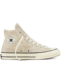 CONVERSE ALL STAR Round Toe Casual Style Suede Plain Low-Top Sneakers