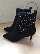 Primark Dots Faux Fur Pin Heels Elegant Style Ankle & Booties Boots