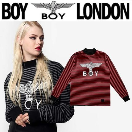 Pullovers Stripes Street Style Long Sleeves