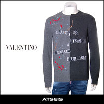 VALENTINO Pullovers Wool Street Style Long Sleeves Knits & Sweaters