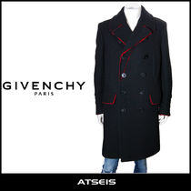 GIVENCHY Wool Street Style Plain Long Chester Coats