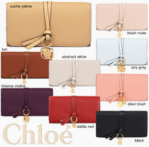 Chloe Plain Leather Long Wallets