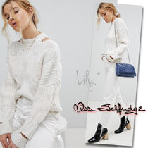 ASOS Cable Knit Casual Style Long Sleeves Plain High-Neck