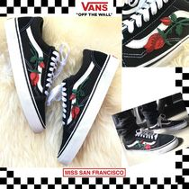 VANS OLD SKOOL Flower Patterns Handmade Sneakers