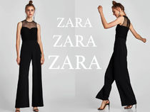 ZARA Dungarees Dots Plain Long Party Style Dresses