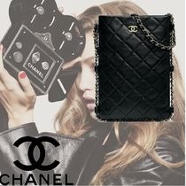 CHANEL Plain Party Style Clutches