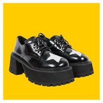 UNIF Clothing Star Platform Casual Style Leather Flat Boots