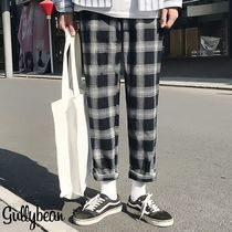 Printed Pants Tartan Street Style Patterned Pants