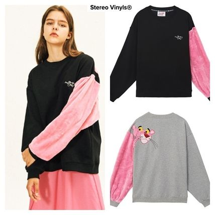 Crew Neck Casual Style Unisex Street Style Long Sleeves