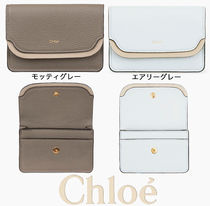 Chloe Plain Leather Card Holders