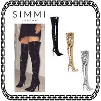 SIMMI Casual Style Pin Heels Over-the-Knee Boots
