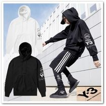 Y-3 Pullovers Long Sleeves Plain Cotton Hoodies
