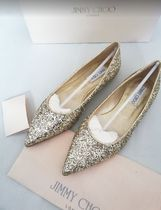 Jimmy Choo Rubber Sole Slip-On Shoes