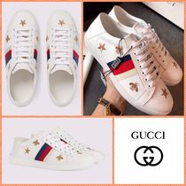 GUCCI Ace Star Leather Low-Top Sneakers