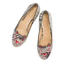 Charlotte Olympia Velvet Other Animal Patterns Flats