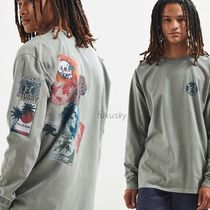 STUSSY Long Sleeves Cotton Logos on the Sleeves