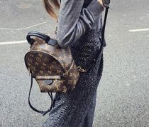Louis Vuitton Monogram Casual Style Street Style Leather Backpacks