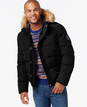 Tommy Hilfiger Short Faux Fur Street Style Plain Down Jackets
