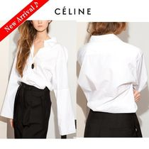 CELINE Plain Cotton Medium Oversized Elegant Style