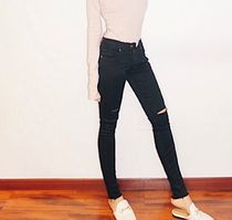 Street Style Plain Medium Skinny Jeans