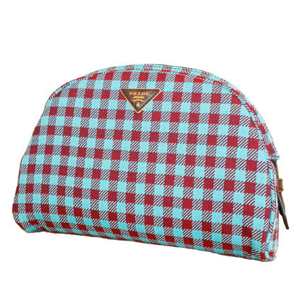PRADA Shoulder Bags Gingham Check Jacouard Vichy Pochette (Red&Blue/Red&White) 2
