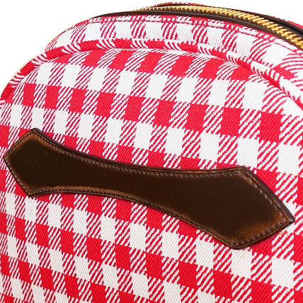 PRADA Shoulder Bags Gingham Check Jacouard Vichy Pochette (Red&Blue/Red&White) 10