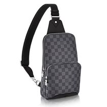 Louis Vuitton DAMIER GRAPHITE Other Plaid Patterns Canvas Blended Fabrics Street Style