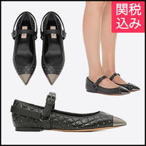 VALENTINO Casual Style Leather Ballet Shoes