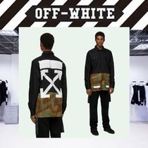 Off-White Button-down Camouflage Street Style Long Sleeves Cotton