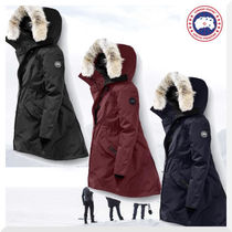 CANADA GOOSE ROSSCLAIR Fur Blended Fabrics Plain Medium Down Jackets