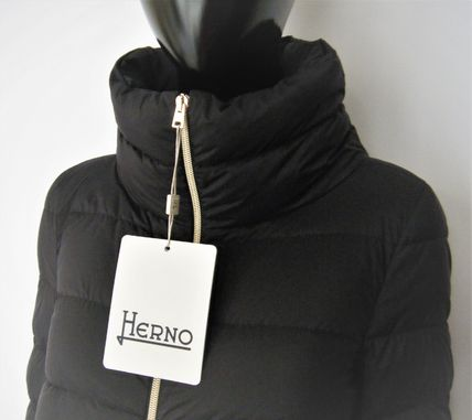 HERNO Down Jackets Blended Fabrics Plain Down Jackets 11