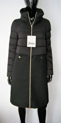 HERNO Down Jackets Blended Fabrics Plain Down Jackets 2